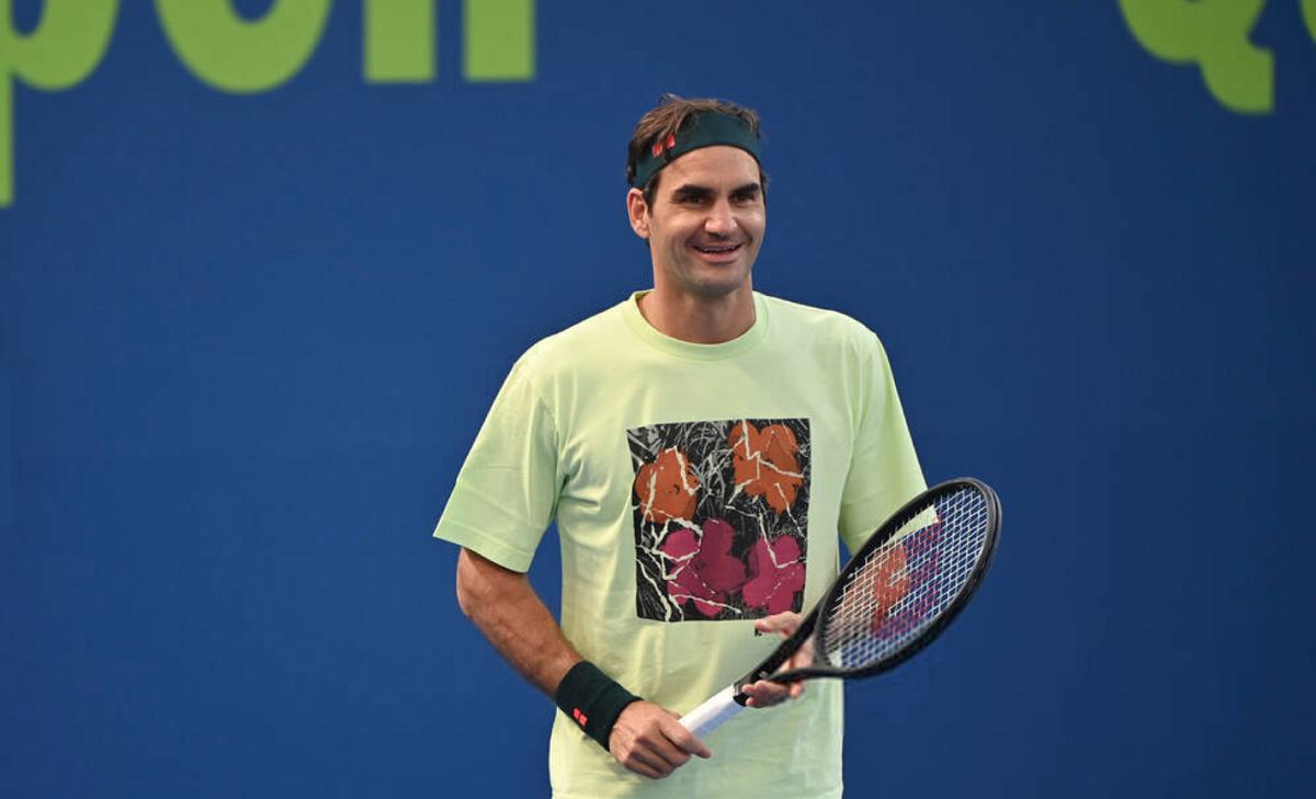 Federer tidak terlalu menekankan menang atau kalah di Qatar Open, turnamen yang dimenangkannya tiga kali.  Foto: ATP.