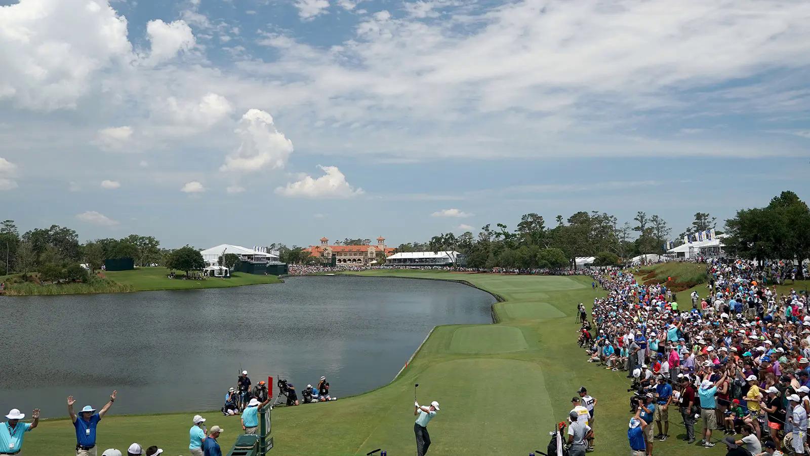 Hole 18 of Stadium of TPC Sawgrass.  Photo: Todays Golfer