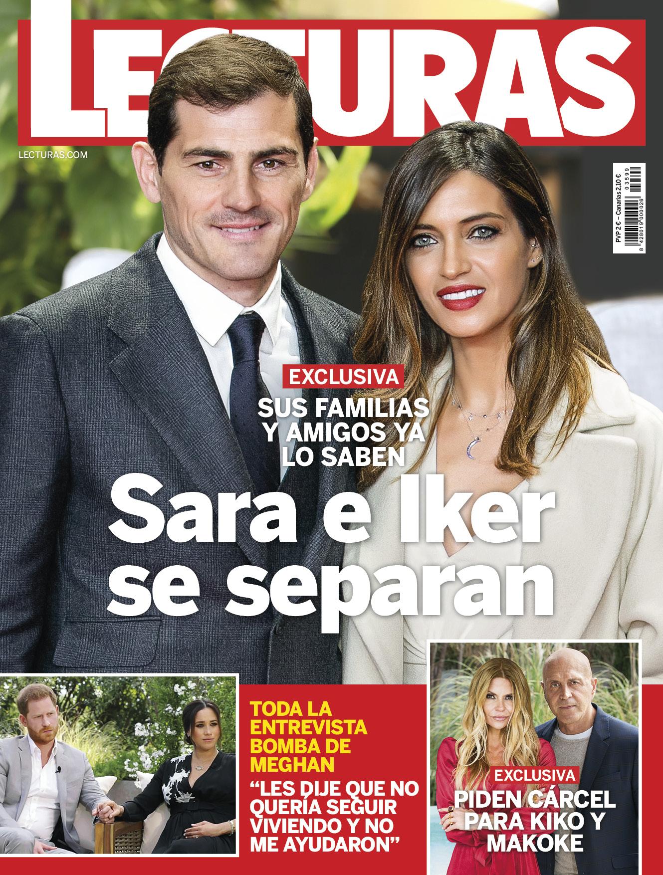 Berita tentang perpecahan pasangan Casillas diposting di sampul majalah Lecturas, Spanyol pada 10 Maret.