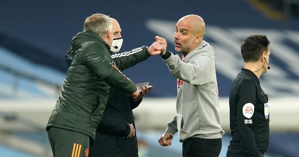 Guardiola và Man City phải dừng mạch thắng khi thua Man Utd 0-2. Ảnh: Reuters.