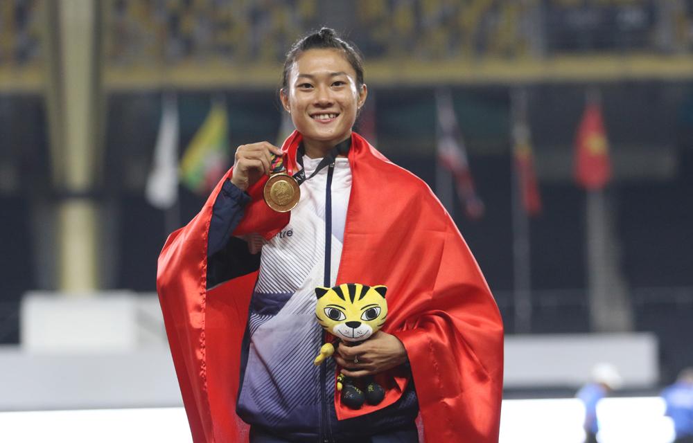 Le Tu Chinh - Ratu kecepatan Vietnam tidak bisa pergi ke luar negeri untuk berlatih atau berkompetisi sepanjang tahun 2020 karena Covid-19.  Foto: Lam Thoa