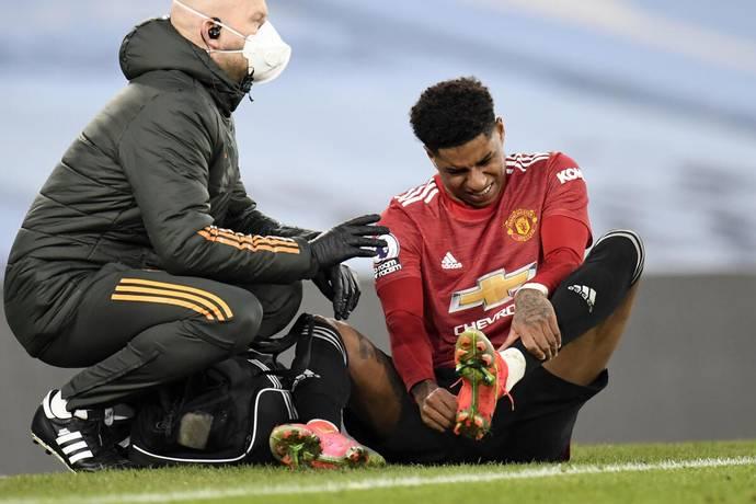 Rashford cedera, jadi tendangan utama dalam serangan akan diberikan kepada Mason Greenwood.  Foto: AP