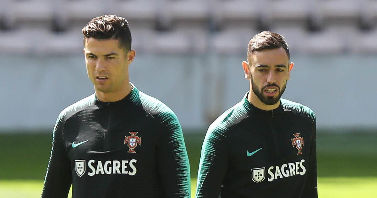 Bruno Fernandes dan Ronaldo adalah rekan satu tim dekat di Portugal.  Foto: Gambar SIPA USA / PA