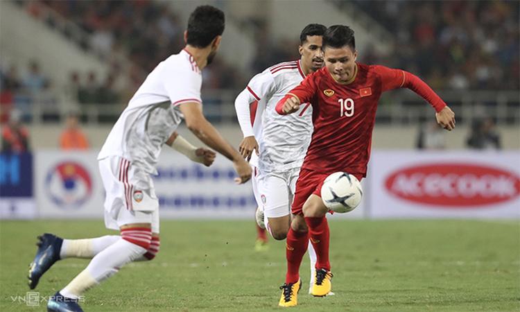 Việt Nam đánh bại UAE 1-0 ở lượt đi trên sân Mỹ Đình vào ngày 14/11/2019. Ảnh: Đức Đồng.