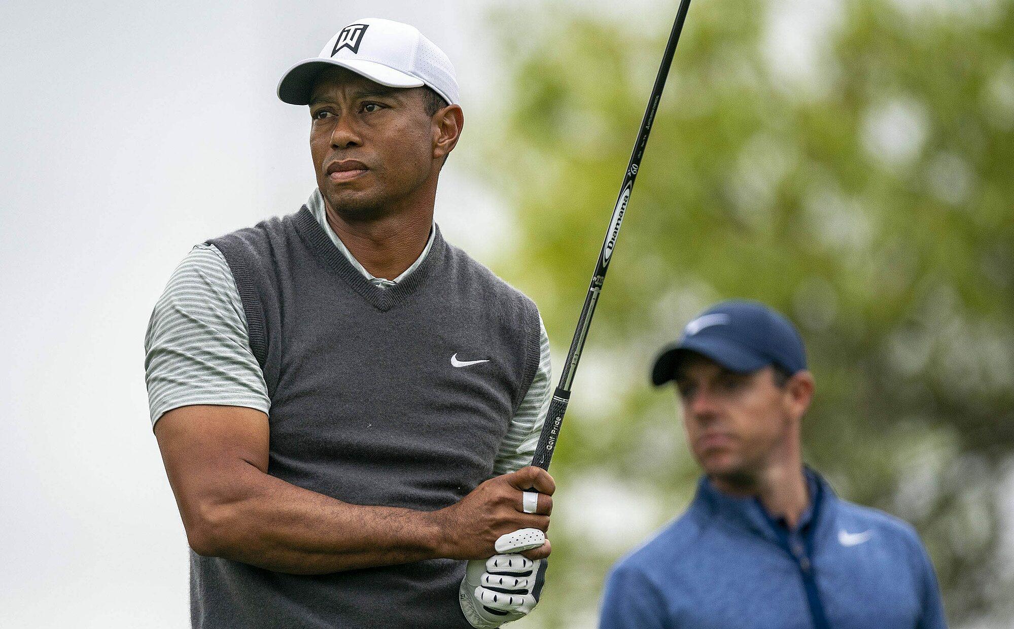 McIlroy tetap berhubungan, dan terus diperbarui tentang kesehatan sahabatnya Tiger Woods.  Foto: USA Today