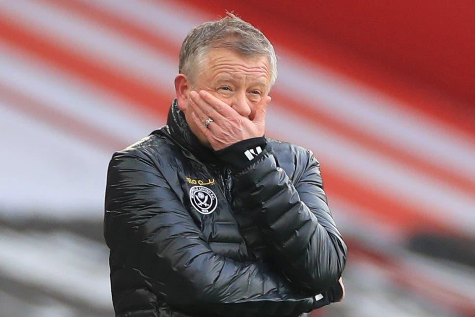 Chris Wilder mengakhiri lima tahun memimpin Sheffield di tengah degradasi ke tempat pertama.  Foto: Reuters,