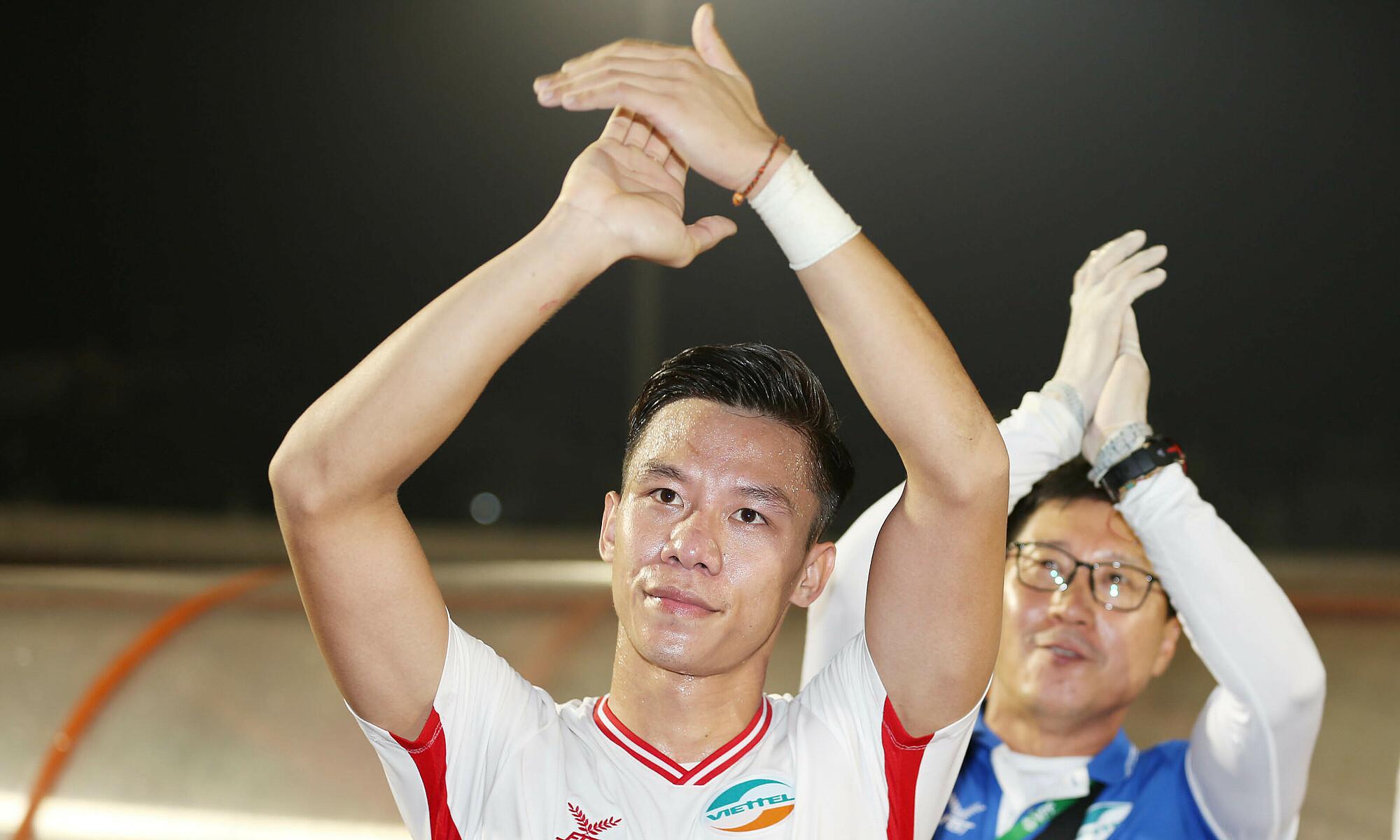 Ngoc Hai mencetak gol pertama untuk Viettel, setelah 12 gol di V-League untuk SLNA.  Foto: Duc Dong