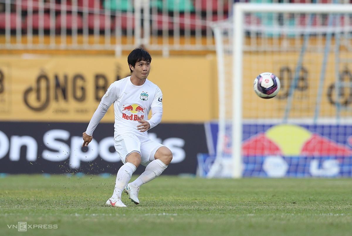 Cong Phuong ยังไม่ได้ทำประตูเลยใน V-League 2021 รูปภาพ: Duc Dong.