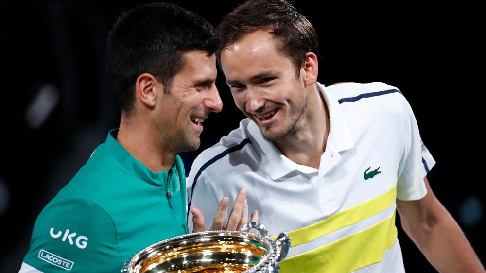 Medvedev kalah di dua final Grand Slam, dari Djokovic dan Nadal.  Foto: ATP.
