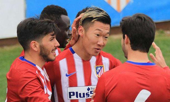 Xu Xin bermain untuk Atletico selama tiga tahun, dan melakukan debut tim pertamanya pada 2015, di usia 21 tahun.  Foto: Xinhua.