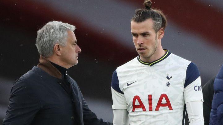 Bale sangat marah ketika Mourinho ditarik dari lapangan di tengah kekalahan dari Arsenal pada 14 Maret.  Foto: PA
