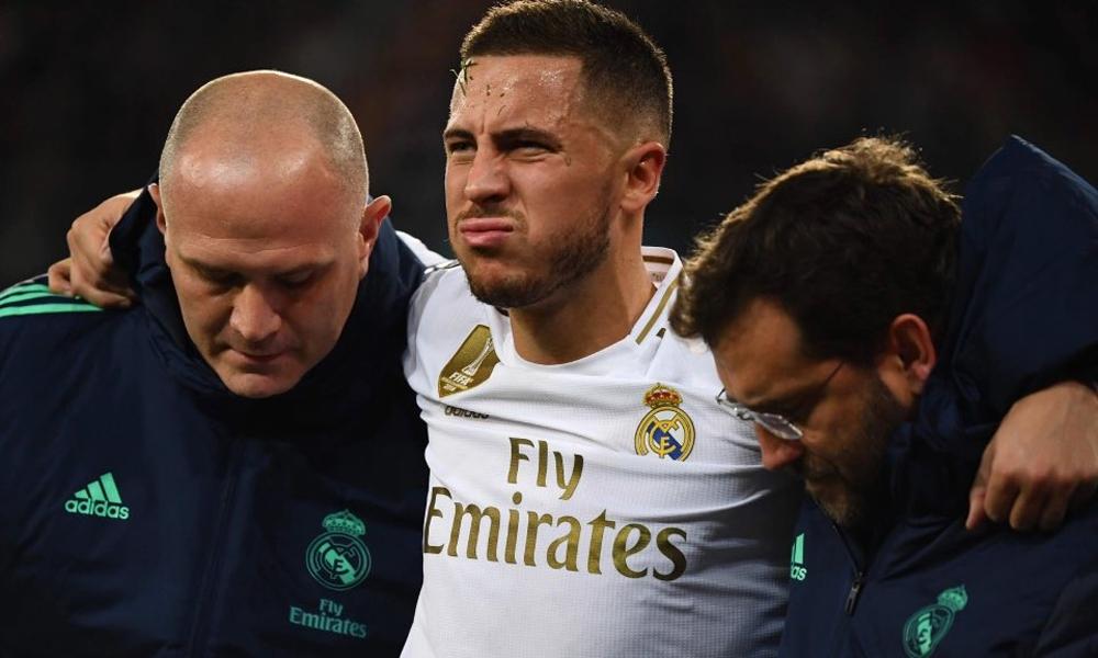 Eden Hazard chấn thương 11 lần trong bảy năm ở Chelsea, nhưng chỉ trong hai năm sau khi sang Real, anh dính tới 10 ca chấn thương và phải nghỉ một đợt vì nhiễm Covid-19. Ảnh: EFE