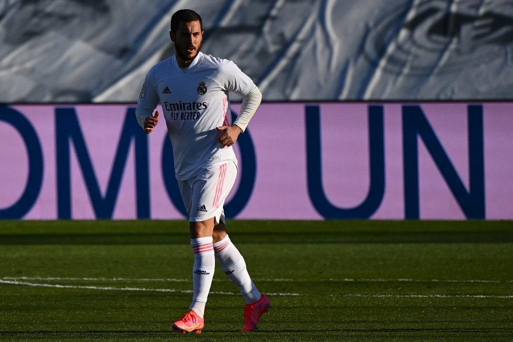 Hazard trong 15 phút cuối trận thắng Elche trên sân Di Stefano ở La Liga hôm 13/3. Ảnh: AFP