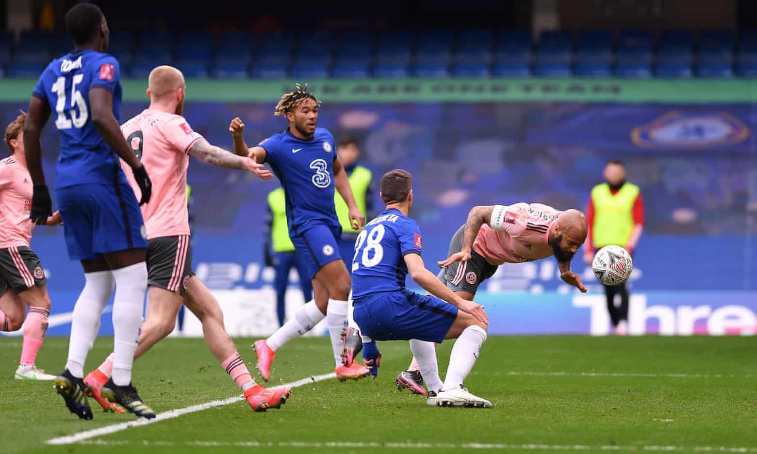 Sheffield bermain keras dan berani melawan Chelsea, tetapi tidak beruntung di depan gawang.  Foto: FA.