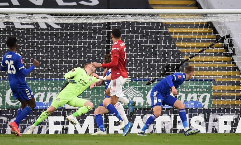Bàn thắng của Greenwood là điểm sáng hiếm hoi của Man Utd trong trận này. Ảnh: AFP.