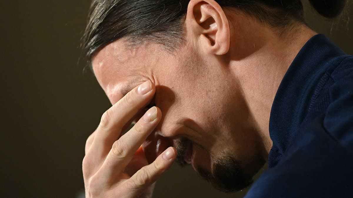 Ibrahimovic sering tersentuh ketika berhubungan dengan anak-anaknya.  Foto: AFP