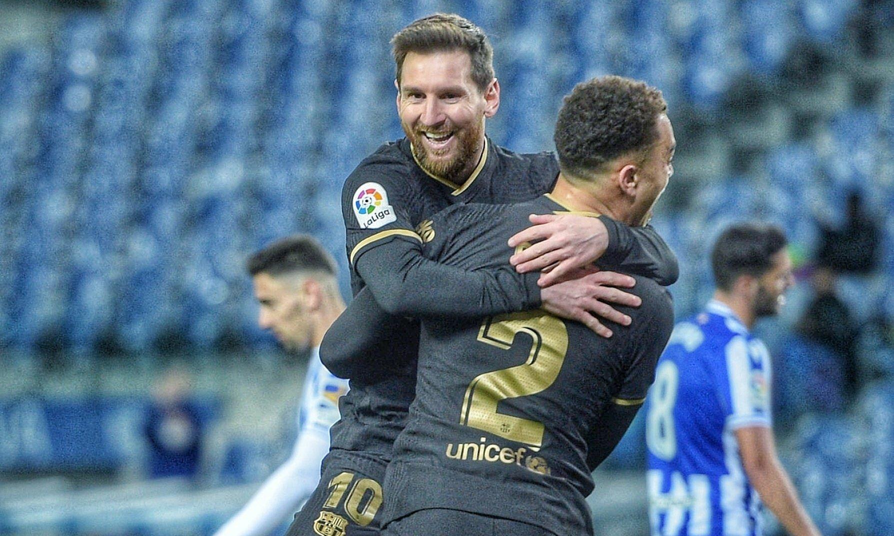 Penampilan terbaik Messi membantu Barca menyublim, tak terkalahkan dalam 18 pertandingan - menang 15, imbang 3 - terdekat di La Liga.  Foto: AFP