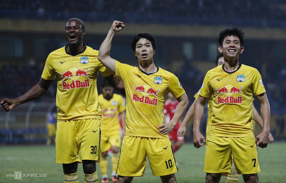 Cong Phuong ฉลองประตูแรกใน V-League 2021