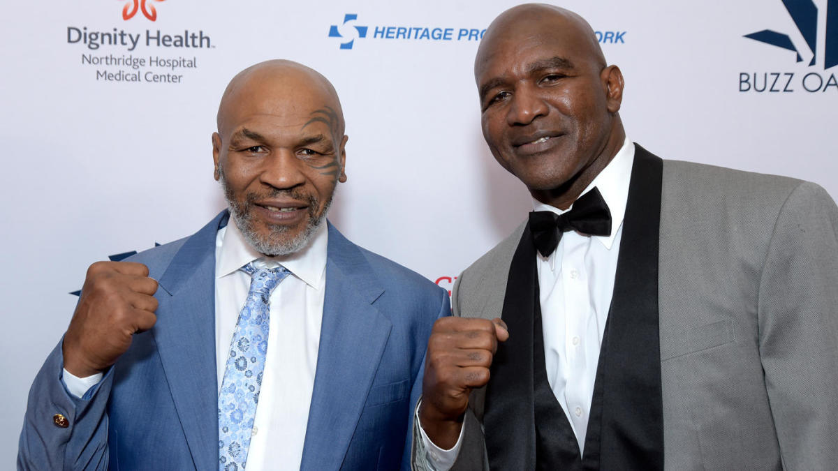 Tyson and Holyfield reunited during the 2019 event. Photo: MT