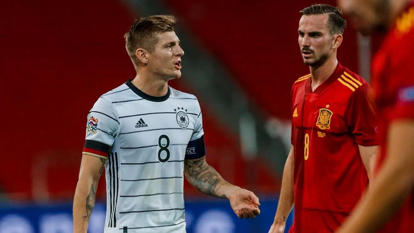 ในนัดที่แล้วสำหรับเยอรมนีโครสและทีมแพ้สเปน 0-6 เมื่อ 11/17/2020 ในรอบแบ่งกลุ่มรอบสุดท้ายของเนชั่นส์ลีก  ภาพ: Marca