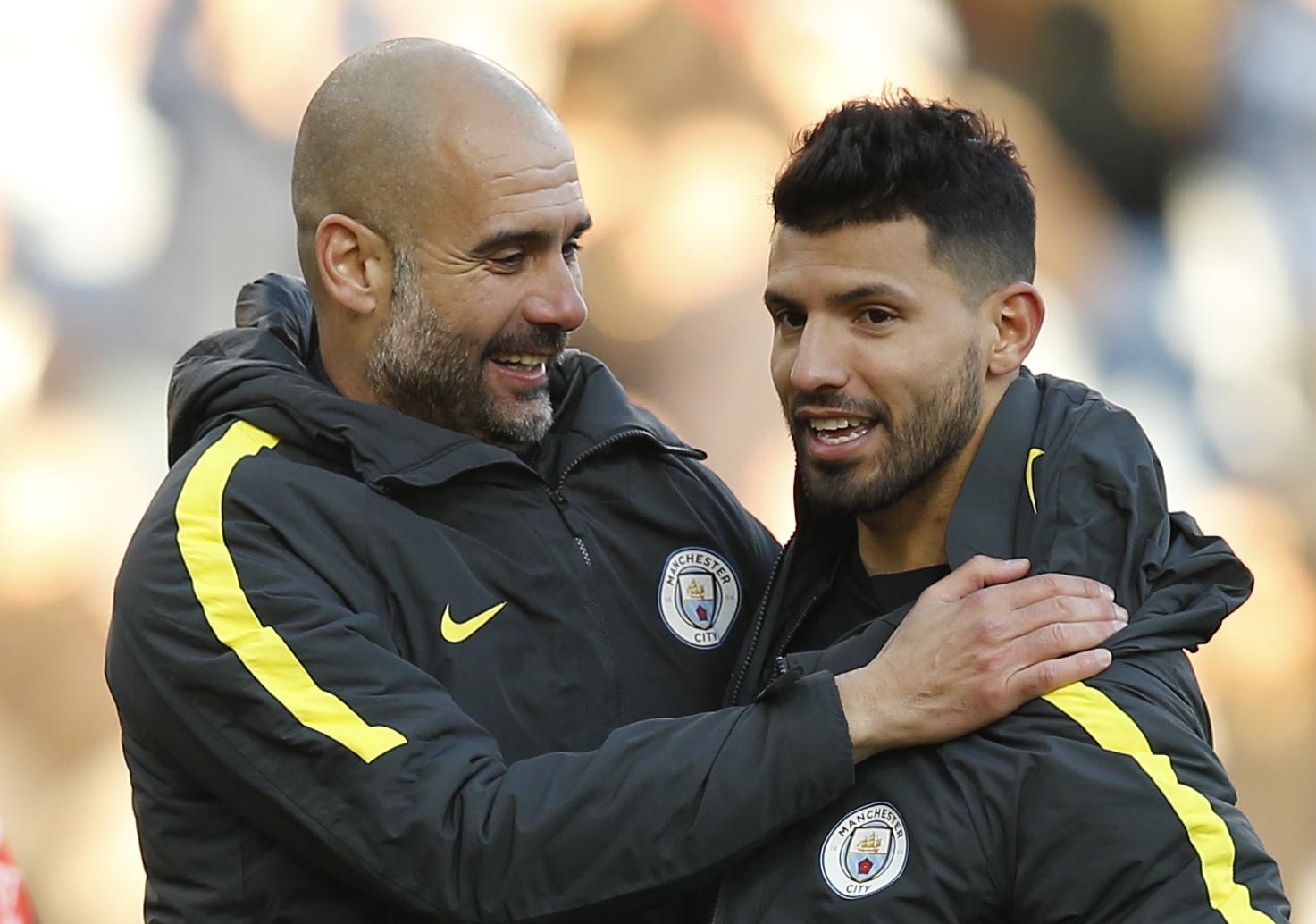 Dưới trướng Guardiola, Aguero tiến bộ vượt bậc về tư duy chơi bóng, trở thành một tiền đạo toàn diện. Ảnh: Reuters