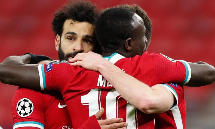 Salah lupa kekalahan final Liga Champions tiga tahun lalu.  Foto: Reuters.