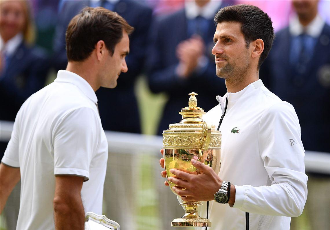 Federer bermain lebih baik tetapi masih kalah dari Djokovic di final Wimbledon 2019. Foto: ATP.