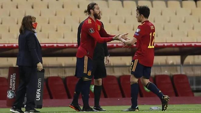 Ramos menggantikan Garcia dengan hanya beberapa menit tersisa pertandingan.
