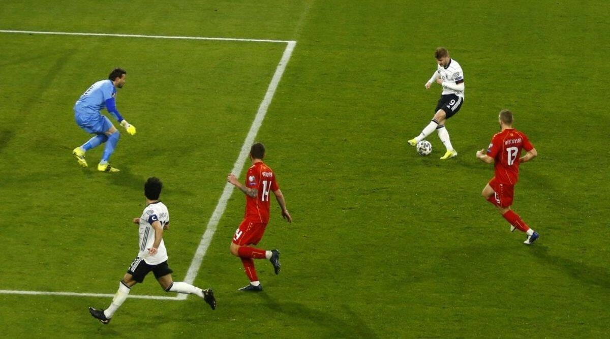 Werner berulang kali melewatkan peluang, hanya mencetak dua gol dalam 31 pertandingan terakhir untuk Jerman dan Chelsea.  Foto: Sasaran.