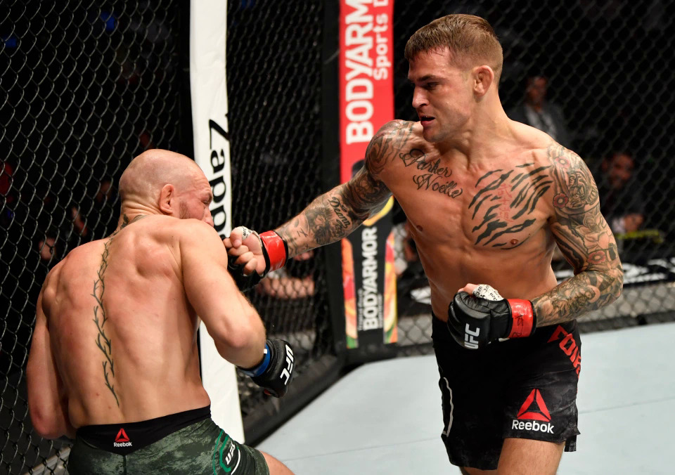 Poirier defeated McGregor with a technical knock-out on January 24, 2021.  Photo: Reuters
