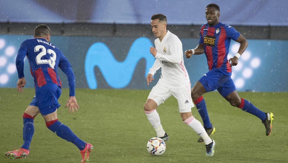 Các cầu thủ Eibar để Real kiểm soát bóng 69%. Ảnh: Mundo Deportivo.
