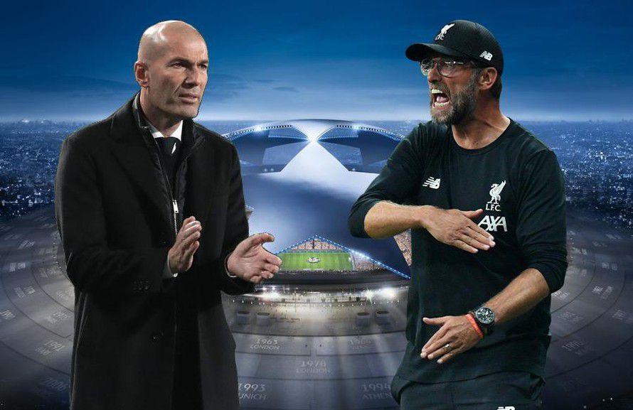 Trận lượt đi vòng 1/8 Champions League hôm nay là lần đầu Zidane đấu trí Klopp kể từ sau trận chung kết năm 2018.