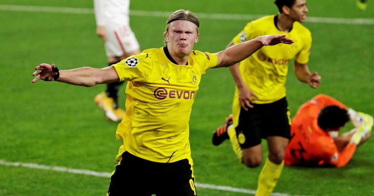 Haaland mencetak 10 gol dalam enam pertandingan terakhir berturut-turut yang dimainkannya di Liga Champions.  Foto: DPA