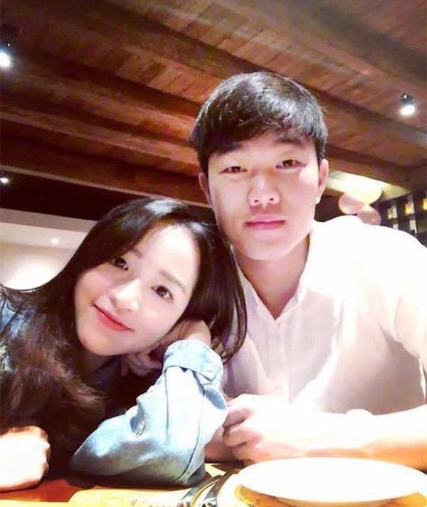 Xuân Trường và bạn gái Nhuệ Giang. Ảnh: FBNV.