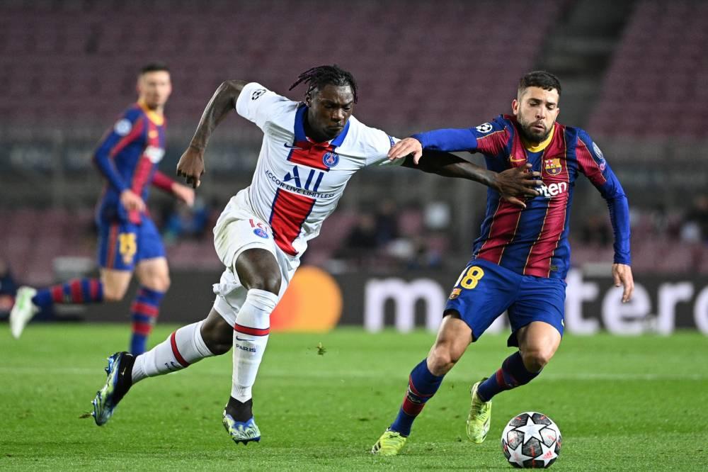Kean là chìa khóa chiến thuật quan trọng giúp PSG đè bẹp Barca 4-1 tại Camp Nou ở lượt đi vòng 1/8 Champions League hồi giữa tháng Hai. Ảnh: France Football