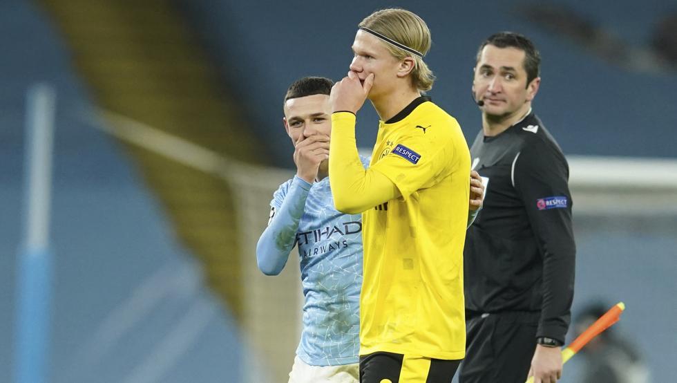 Haaland đang nằm trong tầm ngắm của Barca, Real, Man City, Man Utd, Chelsea và Liverpool. Ảnh: AP.