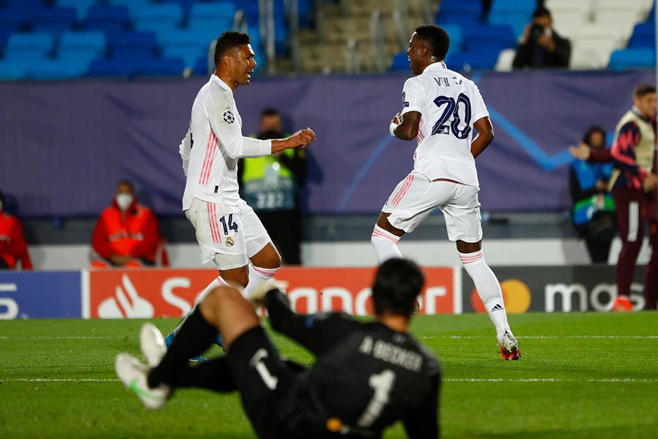 Real baru saja memenangkan Liverpool 3-1 di perempat final leg pertama Liga Champions.  Foto: Reuters.
