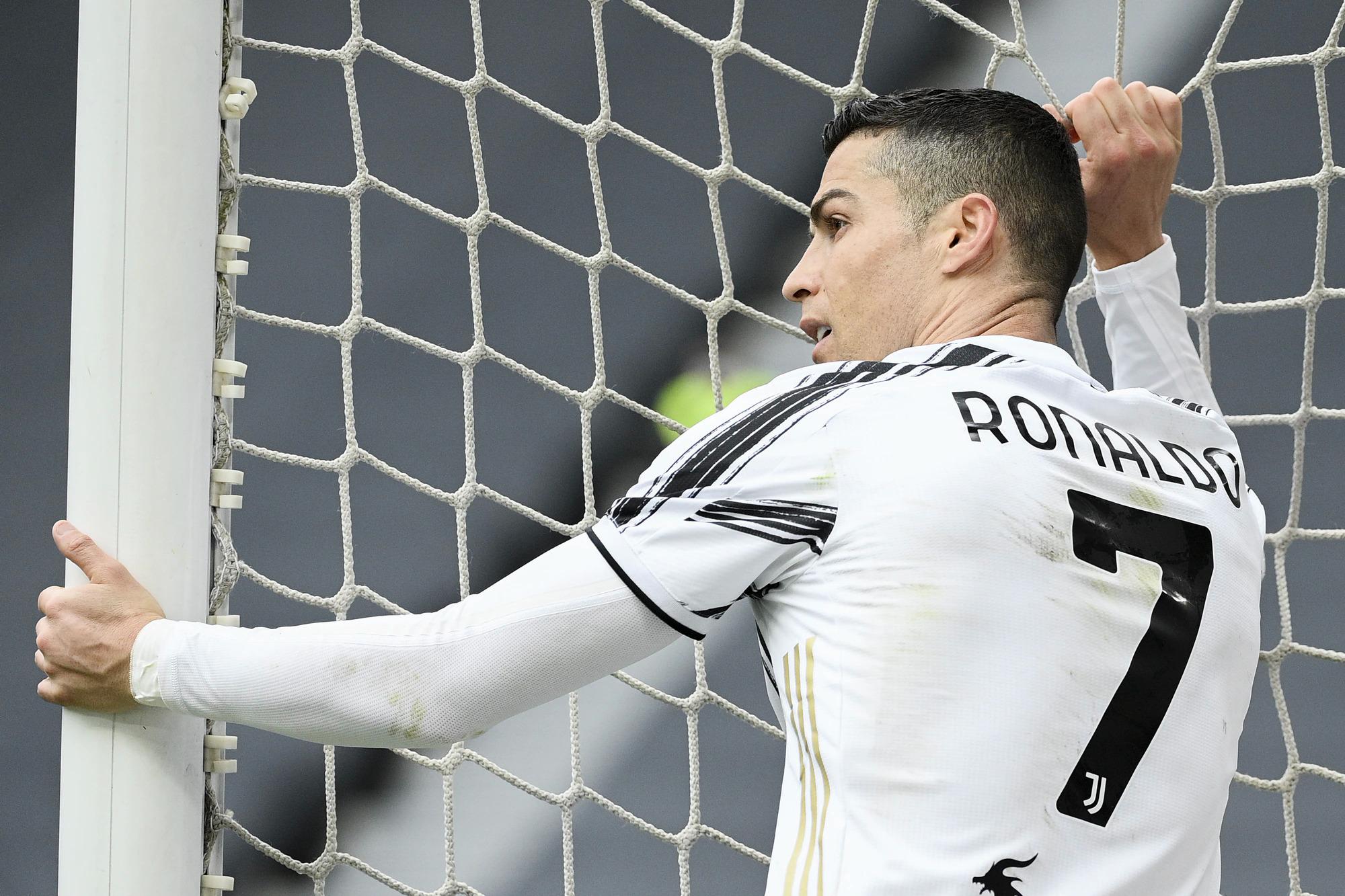 Ronaldo được Whoscored chấm điểm 8,07 điểm - cao nhất trận, nhưng không ghi bàn. Ảnh: Lapresse