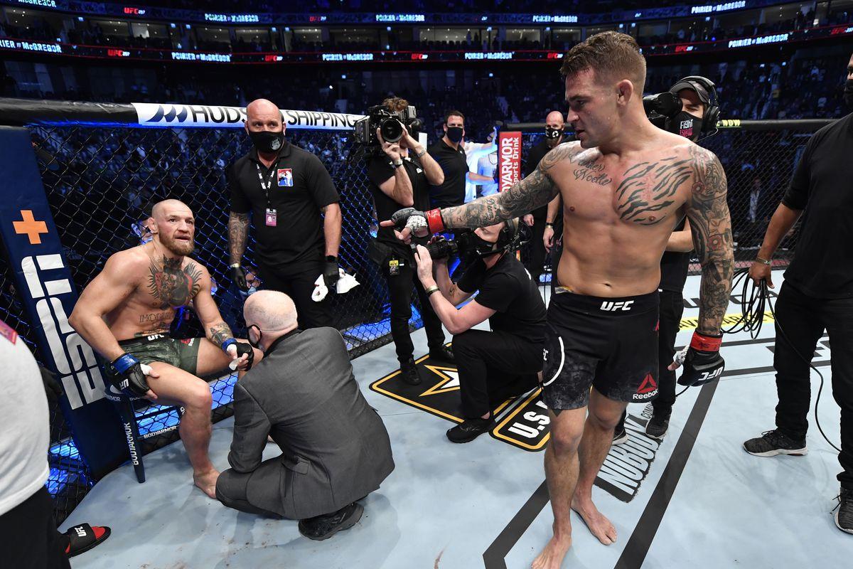 Porier menang melawan McGregor di acara UFC 257 pada Januari 2021.  Foto: Pertarungan MMA