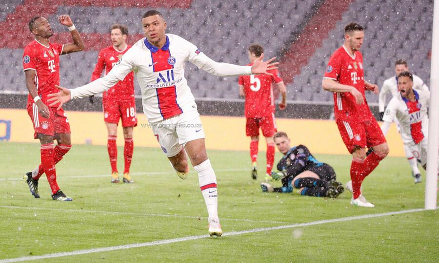 Mbappe ทำสองเท่าเพื่อช่วยให้ PSG เอาชนะบาเยิร์น 3-2 ในรอบก่อนรองชนะเลิศของเลกแรก  ภาพ: Reuters