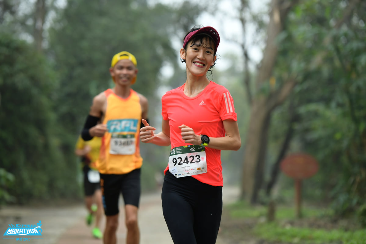 English teacher Thuy Oliver, one of today's prominent female runners.