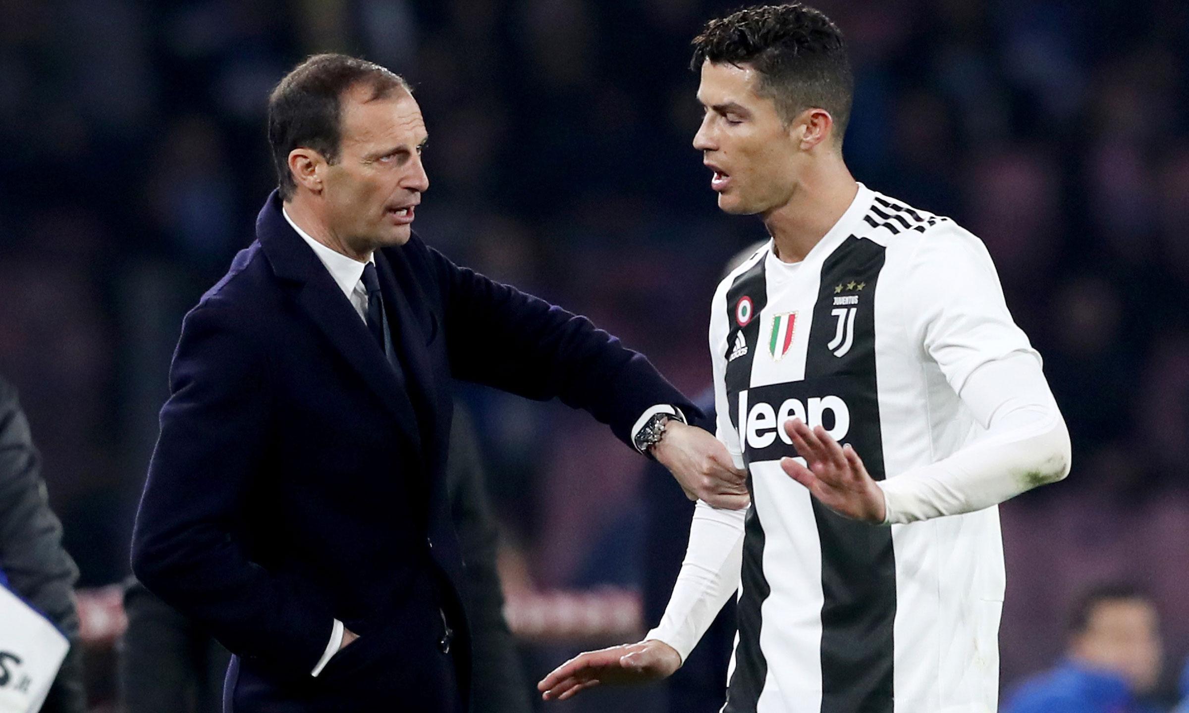 Allegri menyebut Ronaldo mencegah perkembangan Juventus.  Foto: Imago.