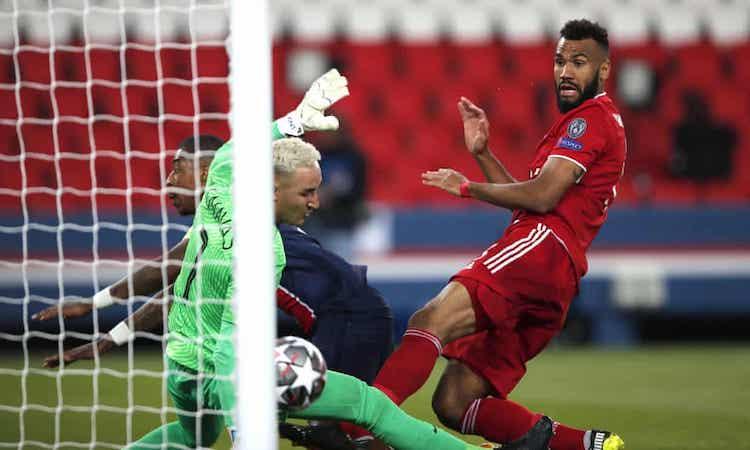Choupo-Moting mở tỷ số cho Bayern ở cuối hiệp một. Ảnh: AP.