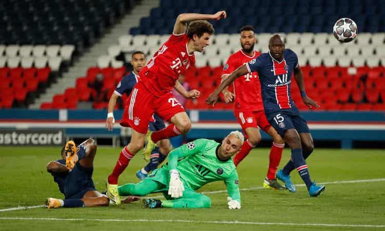 PSG berdiri kokoh di bawah tekanan Bayern di menit-menit terakhir.  Foto: Reuters.
