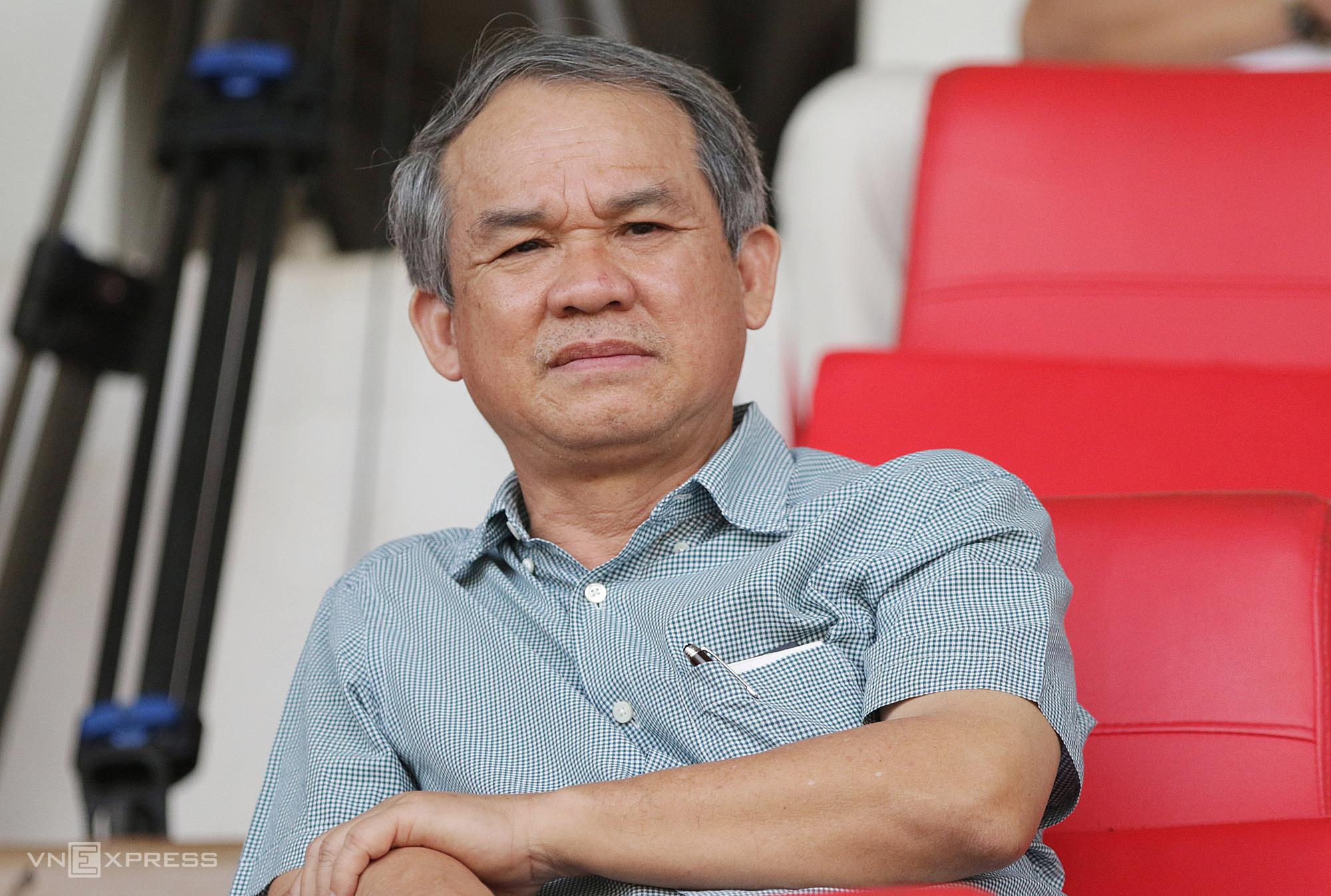 Bau Duc akan menunggu acara pemilihan di halaman Pleiku pada 18 April saat HAGL menyambut Hanoi.  Foto: Duc Dong.