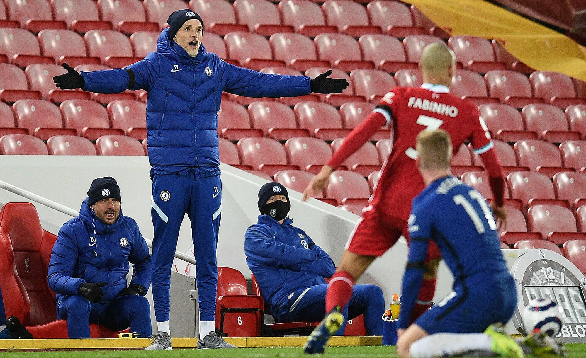 Tuchel tak ingin bertemu Liverpool di semifinal Liga Champions, untuk menghindari perasaan ingin menendang di Liga Inggris.  Foto: PA