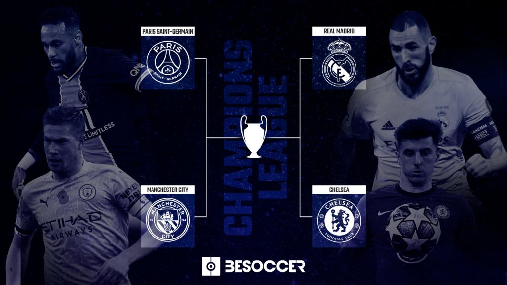 Dua pasang semifinal Liga Champions musim ini.  Foto: Besoccer