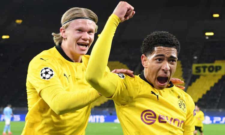 Haaland góp công vào bàn mở tỷ số nhưng không đóng góp nhiều cho lối chơi của Dortmund. Ảnh: AFP.