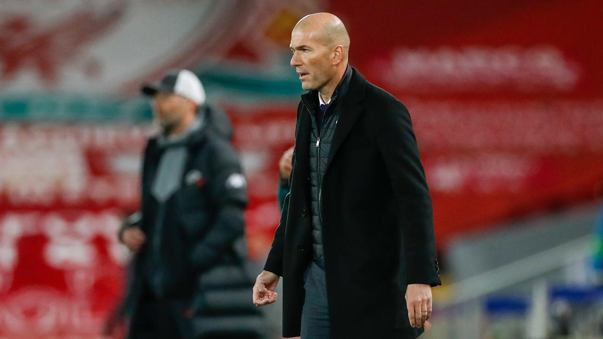 Usai final 2018, Zidane kembali membuat pelukan Liverpool di Liga Champions.  Foto: Twitter / Real Madrid