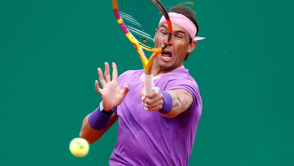 Nadal thắng tốc hành trước Dimitrov. Ảnh: EFE